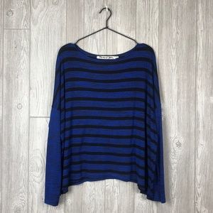 Michael Stars Blue/Black Longsleeve Shirt OS